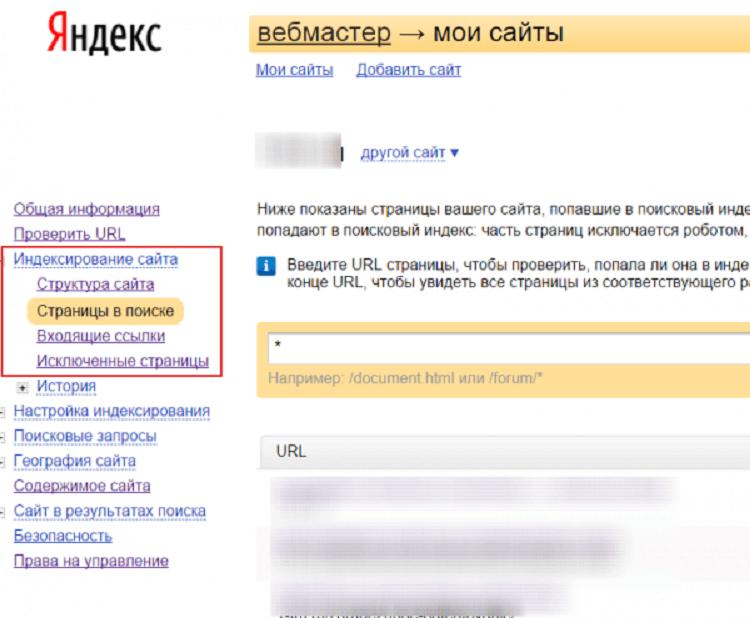Как следить за индексацией сайта